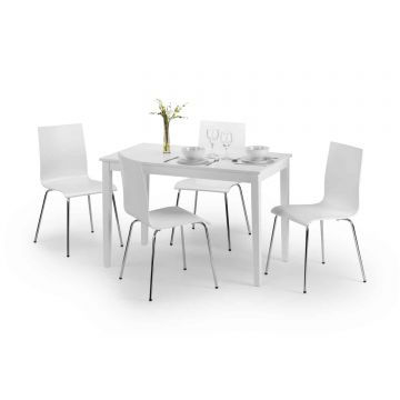 Taku Wooden Dining Set With 4 Chairs