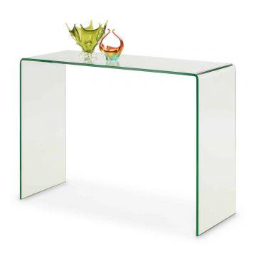 Amalfi Bent Glass Console Table