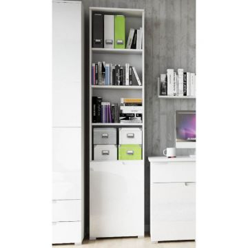 Santino Tall 1 Door Bookcase