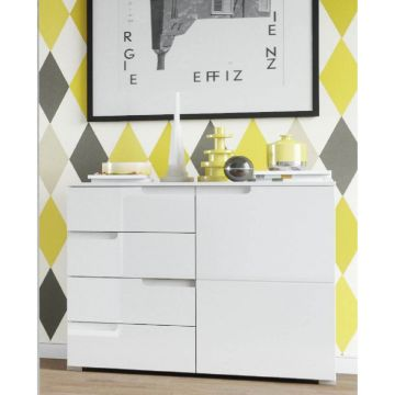 Santino 1 Door Sideboard with 4 Drawers