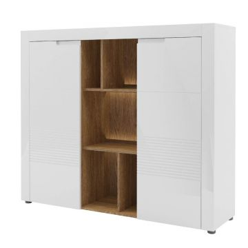 Belros Tall Wide Sideboard