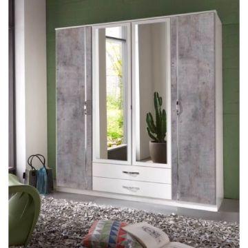 Ramina 4 Door 2 Drawer Wardrobe