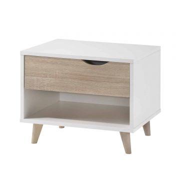 Stockholm 1 Drawer Bedside Cabinet