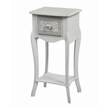 Brittany 1 Drawer Bedside Table