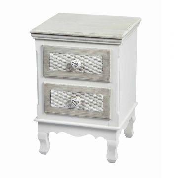 Brittany 2 Drawer Bedside Cabinet