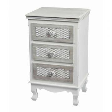 Brittany 3 Drawer Bedside Cabinet