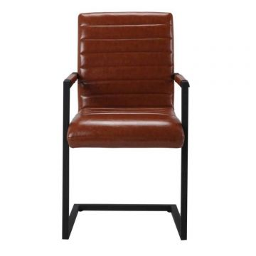 Montana Carver Leather Dining Chair (Pair)