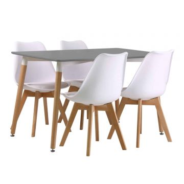 Fraser Dining Table with 4 Louvre Chairs
