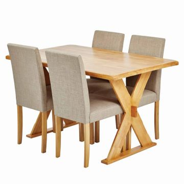 Seville Dining Table with 4 Anna Chairs