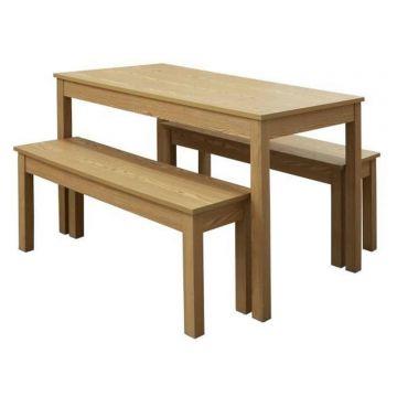 Ohio Wooden Dining Bench Set
