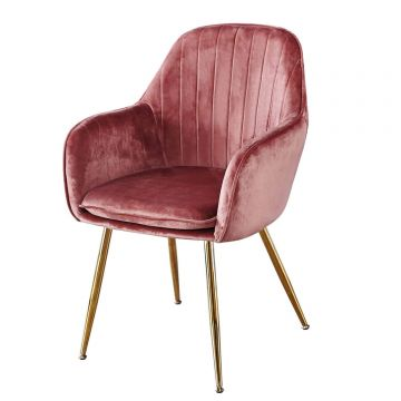 Lara Velvet Dining Chairs (Pair)