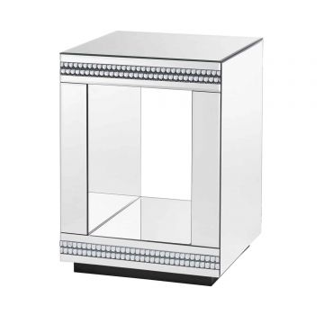 Biarritz Mirror Cube Lamp Table