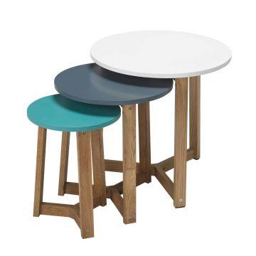 Jasper Wooden Nest of Tables