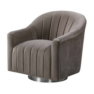 Tiffany Swivel Velvet Chair