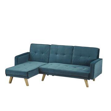 Kitson Velvet Corner Sofa Bed