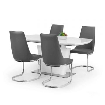 Como Extending Dining Table with 4 Chairs