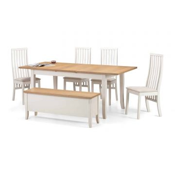 Davenport Extending Dining Table with 4 Vermont Chairs and Bench