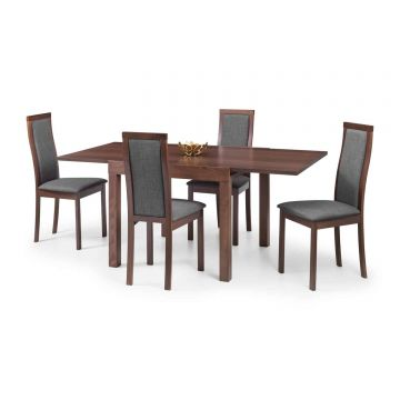 Melrose Extending Wooden Dining Table with 4 Chairs