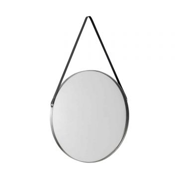 Opera Round Mirror with Black Strap