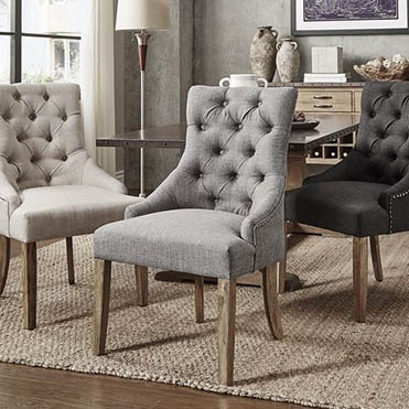 fabric and upholstered dining chairs